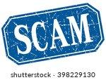 scam blue square vintage grunge ... | Shutterstock .eps vector #398229130