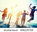 friendship freedom beach summer ... | Shutterstock . vector #398229709
