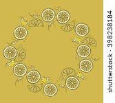 lemon. juicy fruit. fruit... | Shutterstock .eps vector #398238184