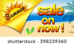 hot summer sale banner with sun ... | Shutterstock .eps vector #398239360