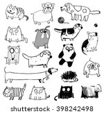 Funny Dogs   Cat Icons. Dogs ...