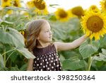 girl and sunflowers | Shutterstock . vector #398250364