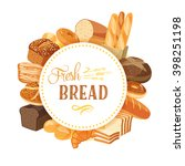 round label with bread... | Shutterstock .eps vector #398251198