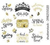 springtime lettering design set.... | Shutterstock .eps vector #398255020