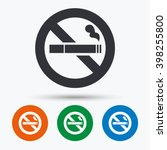no smoking sign. stop smoke... | Shutterstock .eps vector #398255800