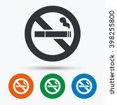 no smoking sign. stop smoke... | Shutterstock .eps vector #398255800