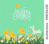 spring greeting card. phrase... | Shutterstock .eps vector #398256100