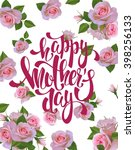 happy mother's day lettering...   Shutterstock .eps vector #398256133