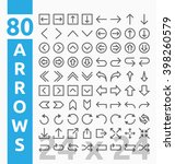 80 arrow outline icons for user ...