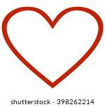 heart outline icon | Shutterstock .eps vector #398262214