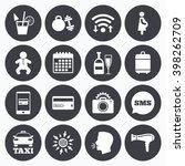 wifi  calendar and mobile... | Shutterstock .eps vector #398262709