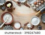 baking ingredients  top view | Shutterstock . vector #398267680