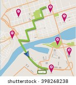 vector flat abstract city map... | Shutterstock .eps vector #398268238