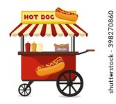 fast food hot dog cart and... | Shutterstock .eps vector #398270860