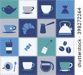 patchwork background with coffe ... | Shutterstock .eps vector #398272264