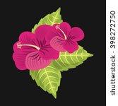 foliage of beautiful flowers...   Shutterstock .eps vector #398272750