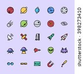 spaces   science icons | Shutterstock .eps vector #398273410