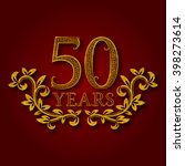fifty years anniversary... | Shutterstock .eps vector #398273614