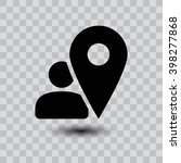 map pointer user sign icon. one ...