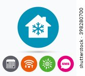 wifi  sms and calendar icons.... | Shutterstock .eps vector #398280700