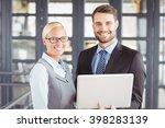 portrait of happy business...   Shutterstock . vector #398283139