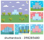 buildings on background. house. ... | Shutterstock .eps vector #398285680