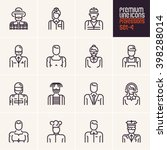 professions icons set  people... | Shutterstock .eps vector #398288014