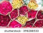 Flower Bouquet On Background...
