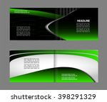 bi fold brochure template... | Shutterstock .eps vector #398291329