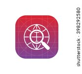 globe and magnifier icon....