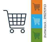 shopping cart icon raster.... | Shutterstock . vector #398292913