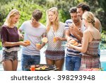 group of friends having... | Shutterstock . vector #398293948