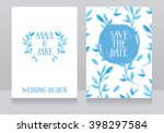 two beautiful wedding... | Shutterstock .eps vector #398297584