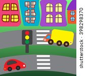 cars in the city. vector... | Shutterstock .eps vector #398298370