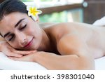 woman relaxing on massage table ... | Shutterstock . vector #398301040