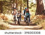 grandparents and kids cycling...   Shutterstock . vector #398303308