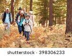 multi generation family hiking... | Shutterstock . vector #398306233