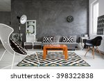Trendy  Grey Living Room With...