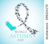 world asthma day awareness... | Shutterstock .eps vector #398324170