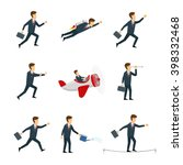 vector set of business people.... | Shutterstock .eps vector #398332468