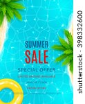 summer sale flyer. beautiful... | Shutterstock .eps vector #398332600