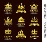 luxury crown logo and crown... | Shutterstock .eps vector #398334658