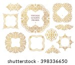 vector set of line art frames ...