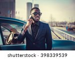 casual black man in a suit... | Shutterstock . vector #398339539