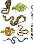 Venomous Snake Vector Cartoon...