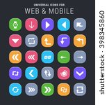 25 universal icons for website... | Shutterstock .eps vector #398345860