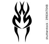 tattoo tribal vector design... | Shutterstock .eps vector #398347048