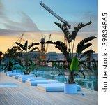 rest zone on quay of barcelona  ... | Shutterstock . vector #39834865