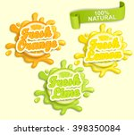 set of lemon  orange  lime... | Shutterstock .eps vector #398350084