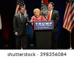 Small photo of Saint Louis, MO, USA - March 11, 2016: Phyllis Schlafly; Conservative author and political activist endorses Donald Trump at the Peabody Opera House in Downtown Saint Louis